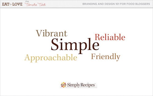 Simply recipes brand adjectives