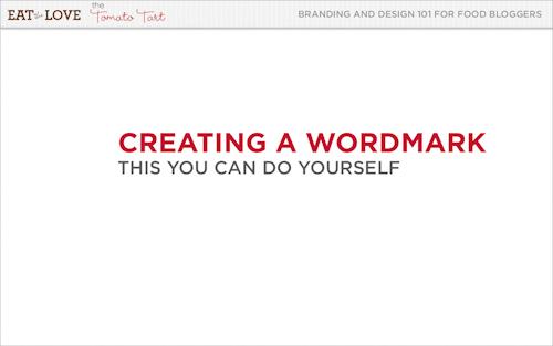 Creating a wordmark