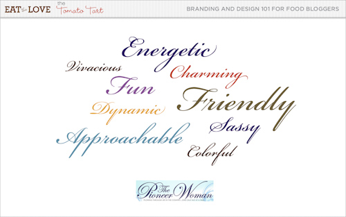 Pioneer Woman brand adjectives