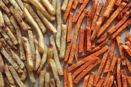 Seasoned Russet Julienne Cut Fries vs Seasoned Sweet Potato Julienne Cut Fries. jpg