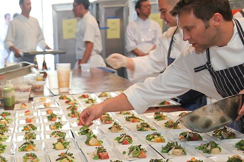 Behind the scenes creating fancy food for fancy people. jpg