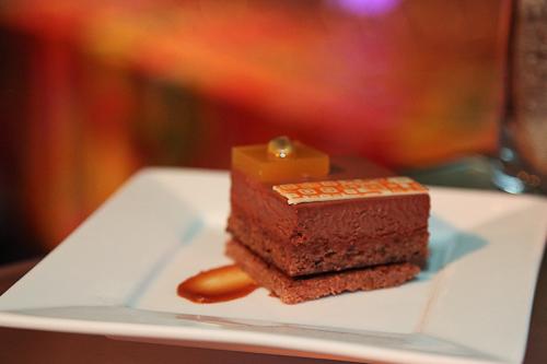 Taste Catering Presents Frank Lloyd Wright: milk chocolate hazelnut passion fruit. jpg