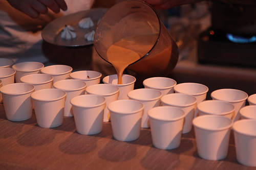 Hot Butterscotch being poured from Baker and Banker. jpg