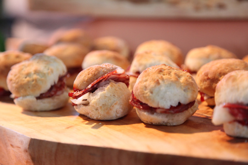 biscuit and salumi from Americano