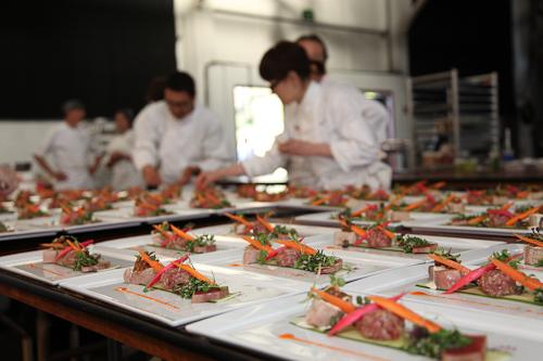 Behind the scenes creating fancy meals for fancy people. jpg
