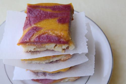 Mango Strawberry Macadamia Nut Shortbread Bars