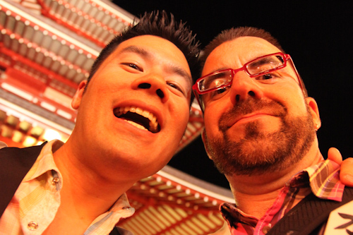 AJ and I enjoyed ourselves enough to take a very flattering selfportrait.