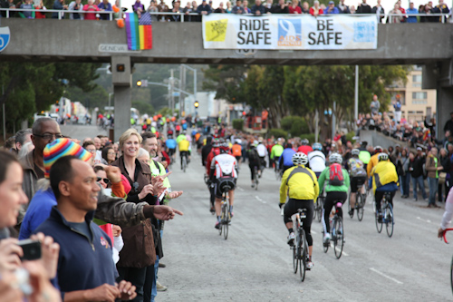 I did not have a picture of my hitchhiker, so I am putting this random shot of Jane Lynch at AIDS Lifecycle day 1. jpg