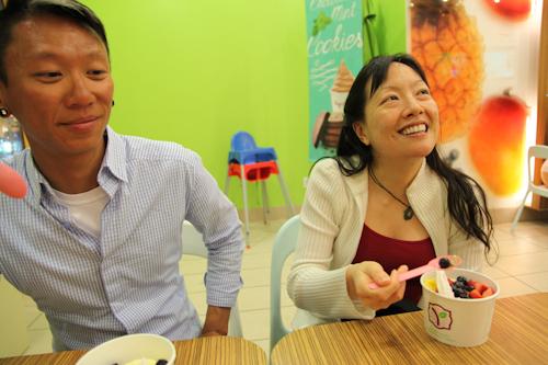 Mok and Rita happy at yogurtland. jpg