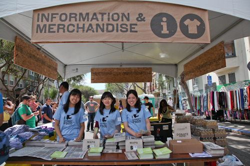 Information and Merchandise at the 3rd annual SF Street Food Fair. jpg