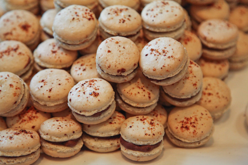 Macarons with Chocolate filling and piment d'espellette from La Boulange