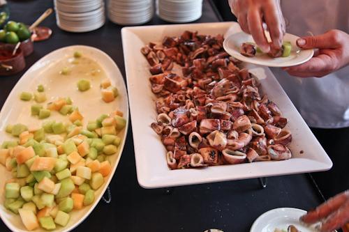 Melon and Calamari salad with Sumac from Joseph Humphrey of Dixie