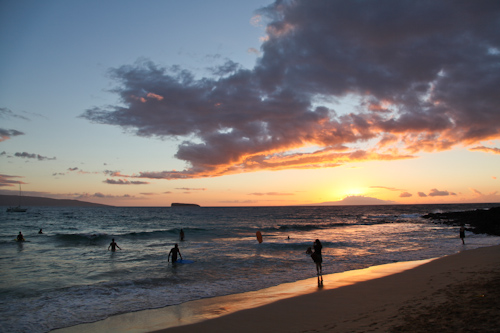 Post Sunset at Little Beach is when all the fun starts jpg