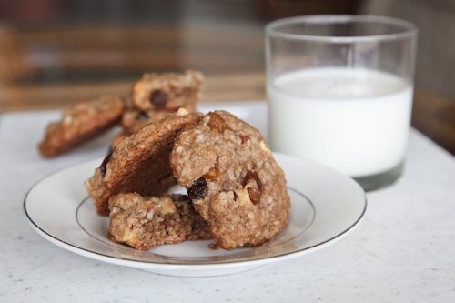 Rum Soaked Tropical Fruit Oatmeal Cookies jpg