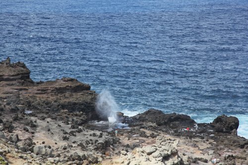 The Nakalele Blowhole in West Maui from a distance. jpg