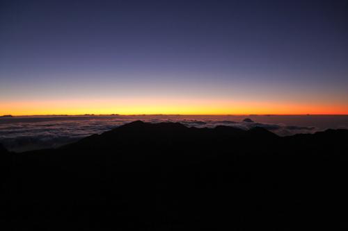 Just before the sunrise at Mt. Haleakala. jpg