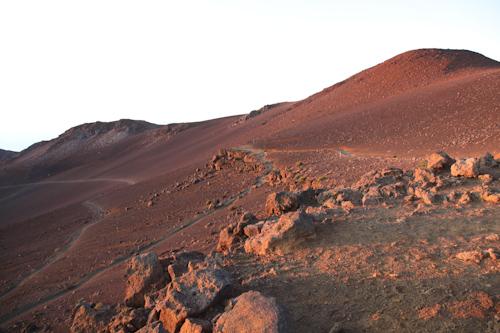 The start of the hike in the morning at Mt. Haleakala. jpg