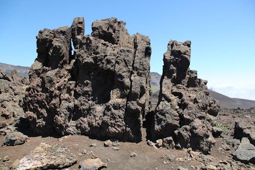 Lava rock formation on the hike in Mt. Haleakala National Park. jpg
