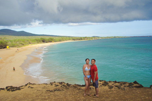 Natatia and Peter posing at the beach...far away from the water. jpg