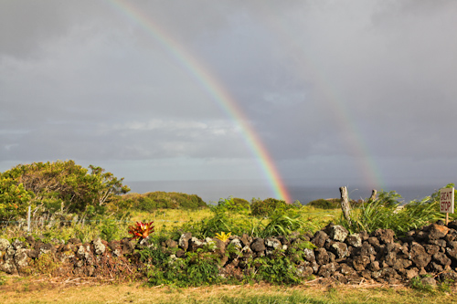 We saw a double rainbow on our drive on the backroads past Hana. What does it mean? jpg