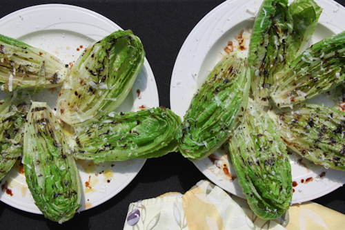 Grilled Artisan Romaine Lettuce with Parmesan, Olive Oil & Balsamic Vinegar. jpg