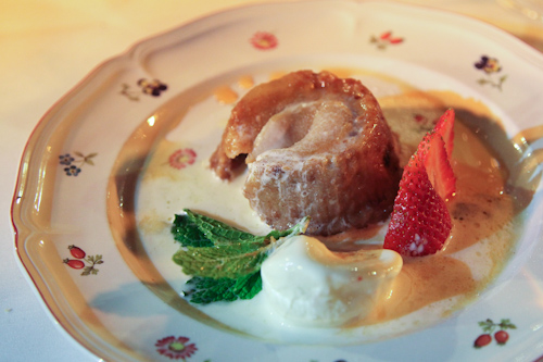 Apple Bread Pudding, my dessert from Grasing's Restaurant. jpg