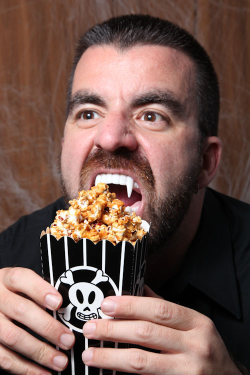 Careful that the haunted honey caramel popcorn doesn't turn you into a vampire!