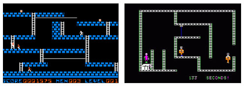 Lode Runner and Castle Wolfenstein screen captures. jpg