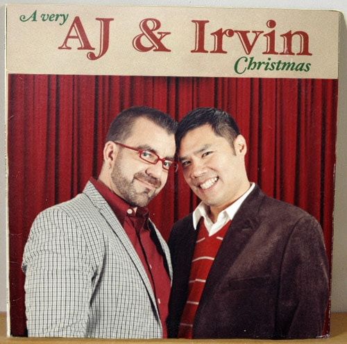 A very AJ and Irvin Christmas Album Cover