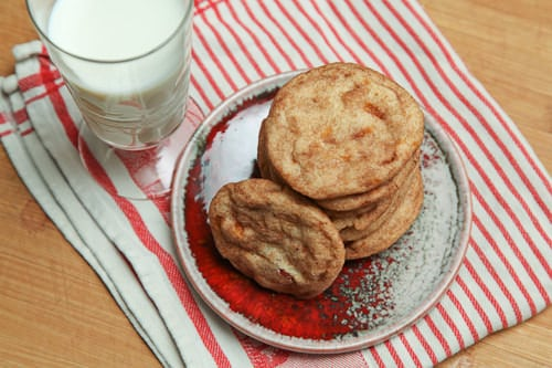 Apple Cookie Recipe, caramel apple snickerdoodles! By Irvin Lin of Eat the Love. | www.eatthelove.com