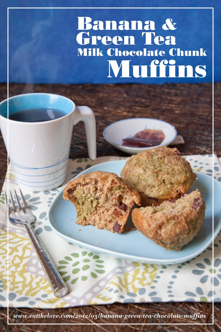 Banana & Green Tea Milk Chocolate Chunk Muffins and my entry into the Nuts About Oats contest