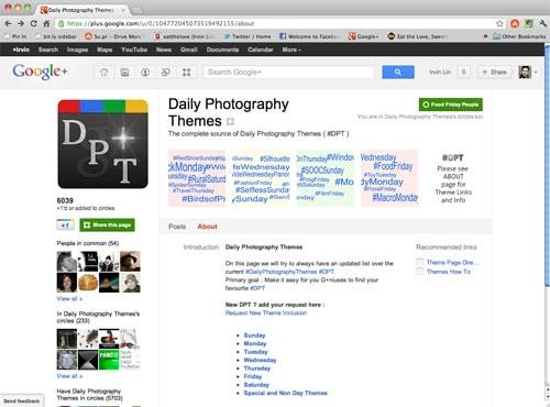 DailyPhotoThemesOnGooglePlus