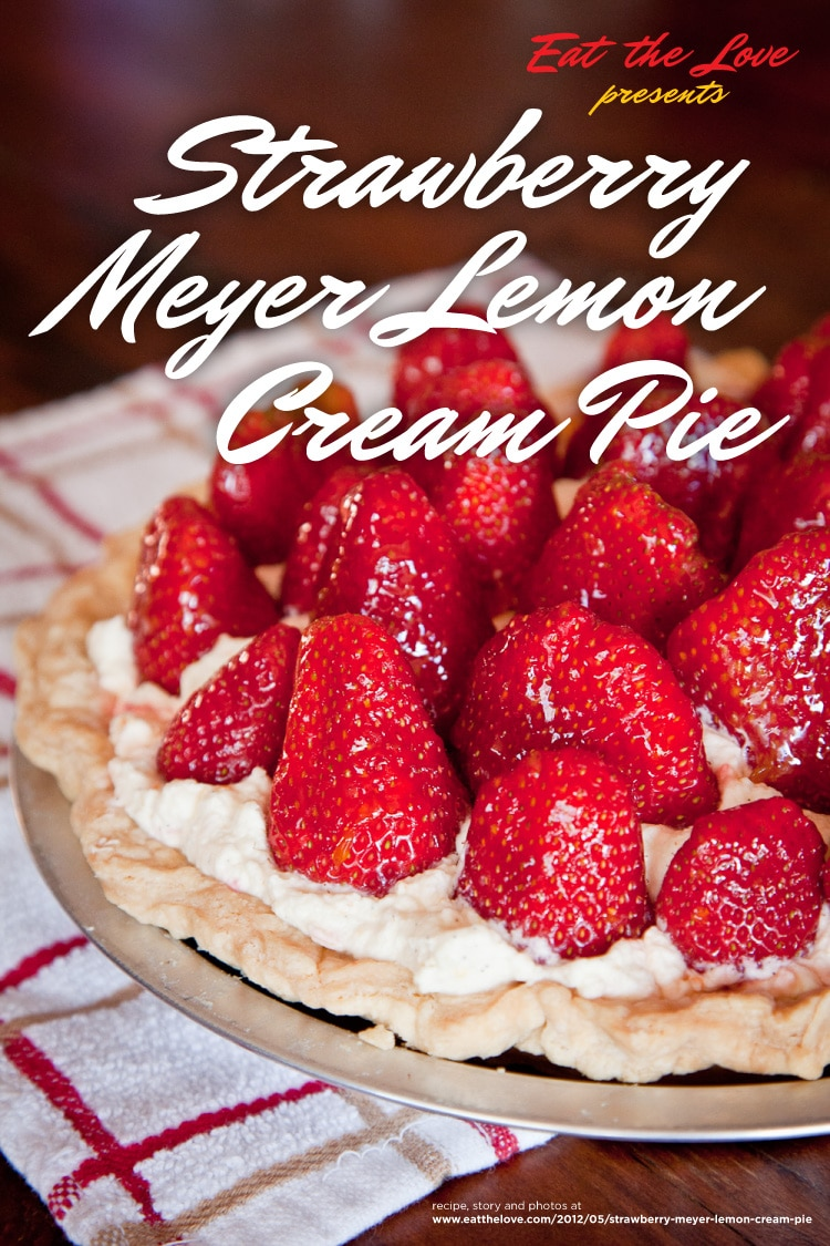 Strawberry Meyer Lemon Cream Pie & and invite to join me for the DIY Dessert at 18 Reasons for pie!