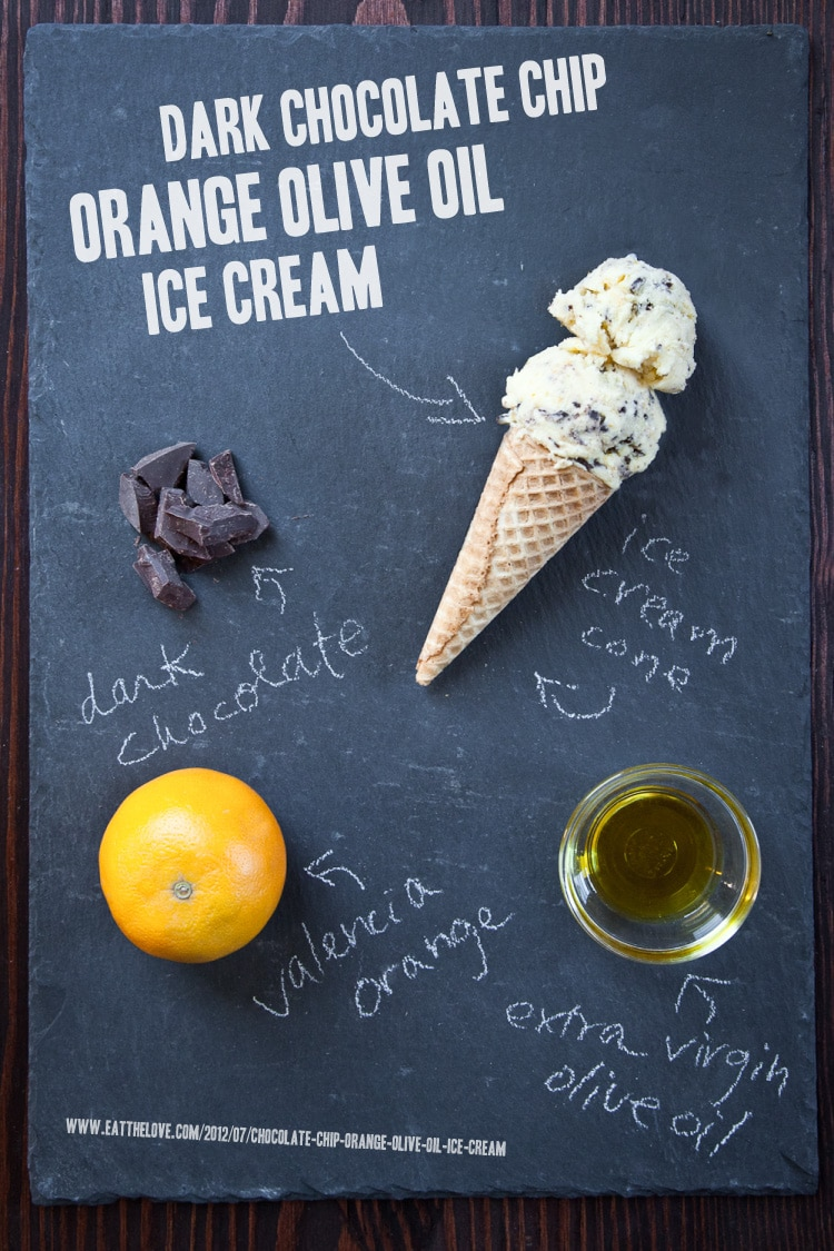 Dark Chocolate Chip Orange Olive Oil Ice Cream and the Bi Rite Creamery