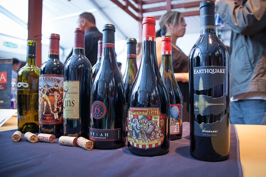 A selection of wines at the Sunday SF Chefs Grand Tasting Tent, 2012 by Irvin Lin of Eat The Love