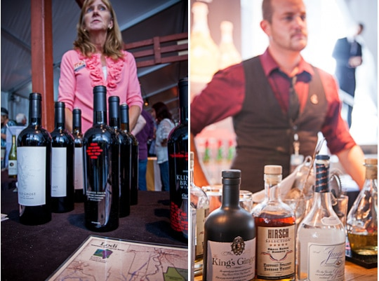 Serving up wine and spirits at the Sunday SF Chefs Grand Tasting Tent, 2012 by Irvin Lin of Eat The Love
