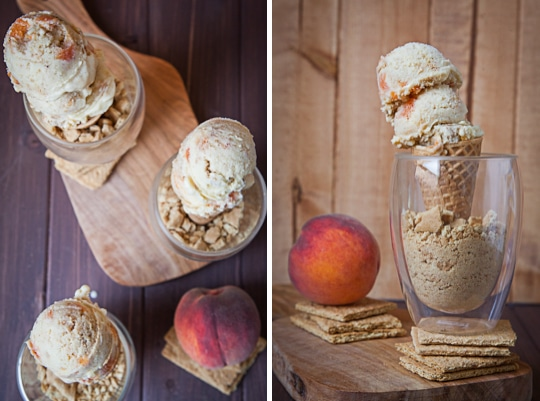 Vanilla Peach and Graham Cracker Ice Cream by Irvin Lin of Eat the Love
