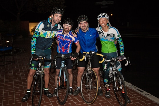 Josh, Alic, AJ and Mok finishing their 200 miles bike ride by Irvin Lin of Eat the Love