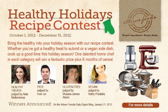 Attune Foods Recipe Contest Details