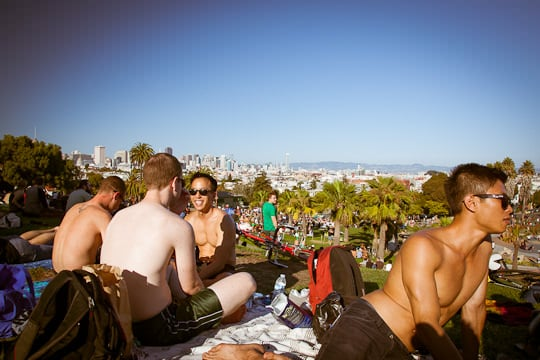 Dolores Park in San Francisco. Photo by Irvin Lin of Eat the Love. | www.eatthelove.com