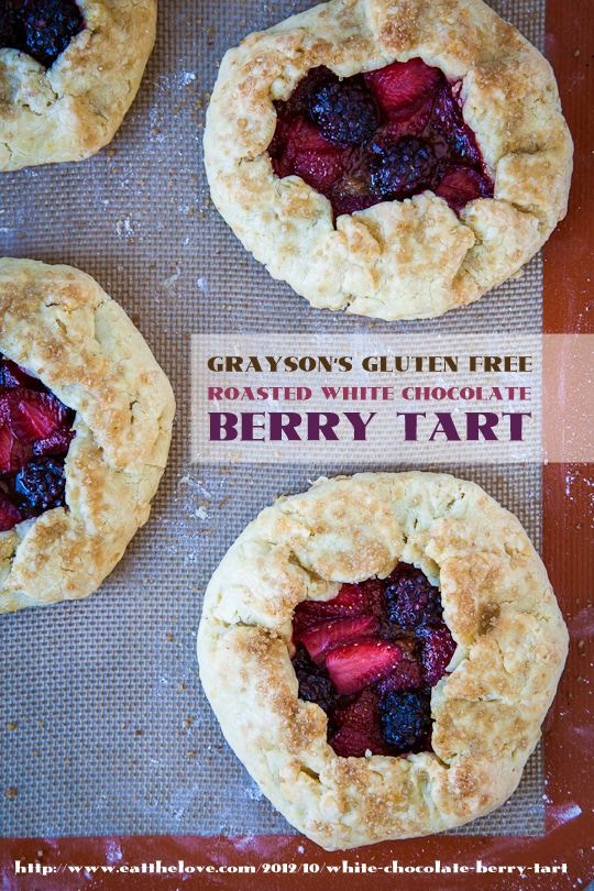 Roasted White Chocolate Berry Tart (gluten free) by Irvin Lin of Eat the Love
