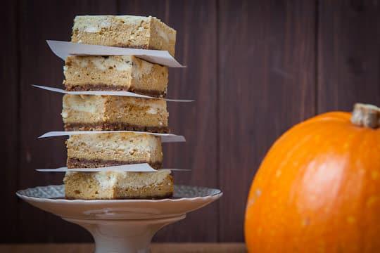 Pumpkin Pie Cheesecake Bars by Irvin Lin of Eat the Love   www.eatthelove.com   #pumpkin #cheesecake