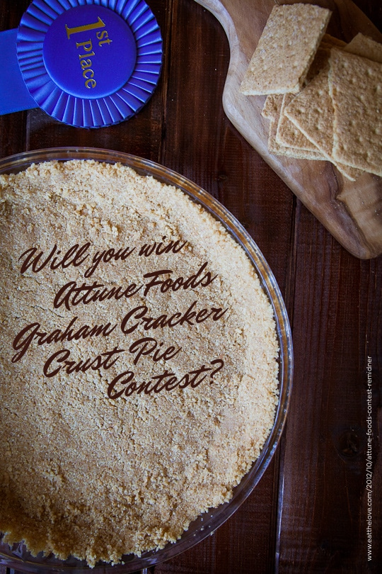 Will you win the Attune Foods Graham Cracker Crust Pie Contest? Photo by Irvin Lin of Eat the Love
