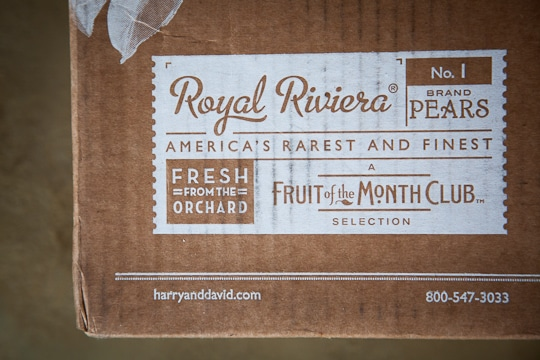 Harry & David Fruit of the Month Club - Royal Riviera Pears. Photo by Irvin Lin of Eat the Love