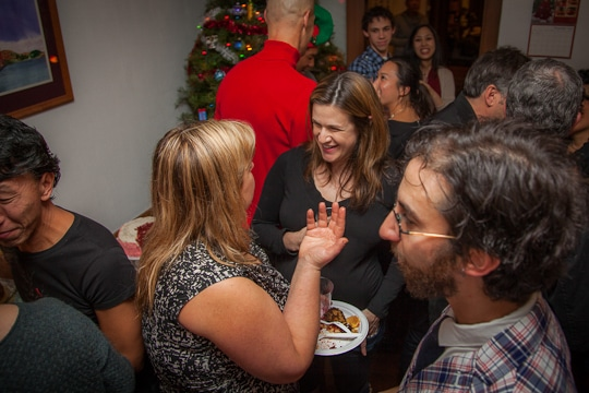 The crowd at our Holiday Party was awesome. Photo by Irvin Lin of Eat the Love. www.eatthelove.com