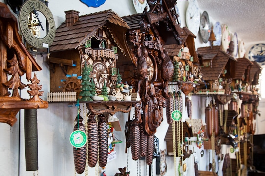 Cuckoo clock shop in Solvang, California. Photo by Irvin Lin of Eat the Love. www.eatthelove.com