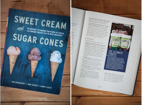 Sweet Cream and Sugar Cones cookbook. Photo by Irvin Lin of Eat the Love