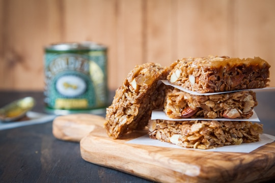 Double Ginger Almond British Flapjacks by Irvin Lin of Eat the Love. www.eatthelove.com