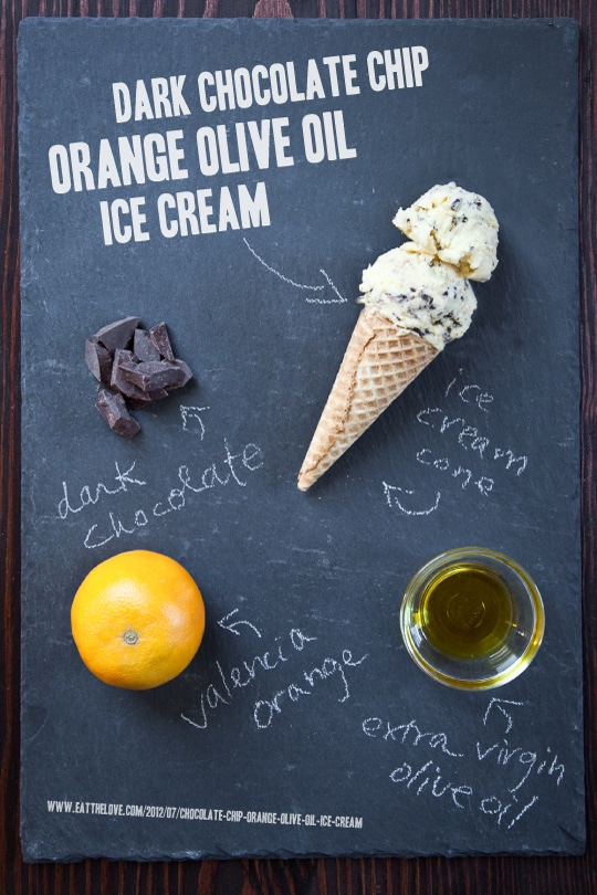 Olive Oil and Chocolate Chip Orange Ice Cream by Irvin Lin of Eat the Love. www.eatthelove.com