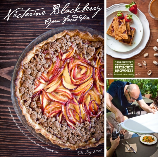 Nectarine Blueberry open faced pie and more. Photo by Irvin Lin of Eat the Love. www.eatthelove.com